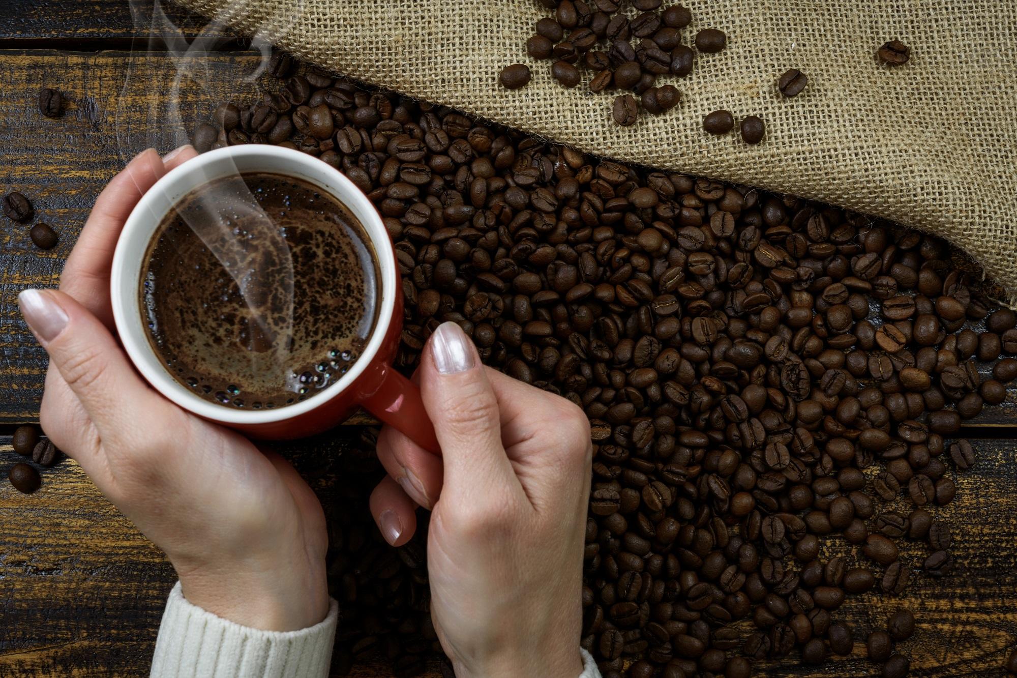 que cafe taza granos