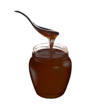 Miel de café elaborada a partir del mucílago de las cerezas de café.