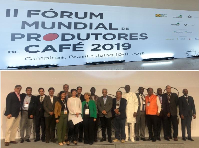 Asistentes al segundo foro mundial de productores de café. Brasil, Junio de 2019.
