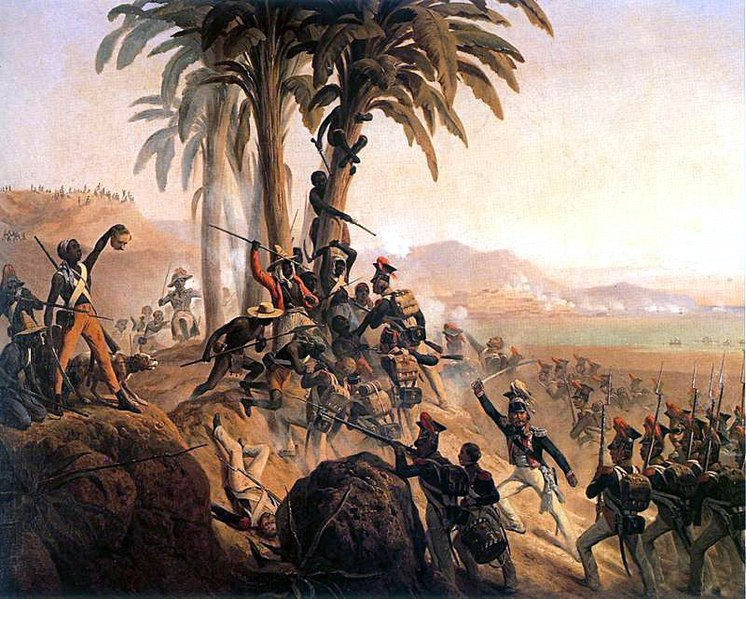 Pintura ; Bitwa na San Domingo  de Janvier Suchodolski. También conocida como Battle_for_Palm_Tree_Hill.