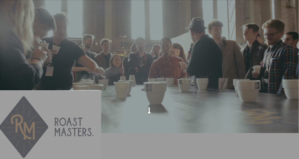 Degustacion de café durante el Roast Masters