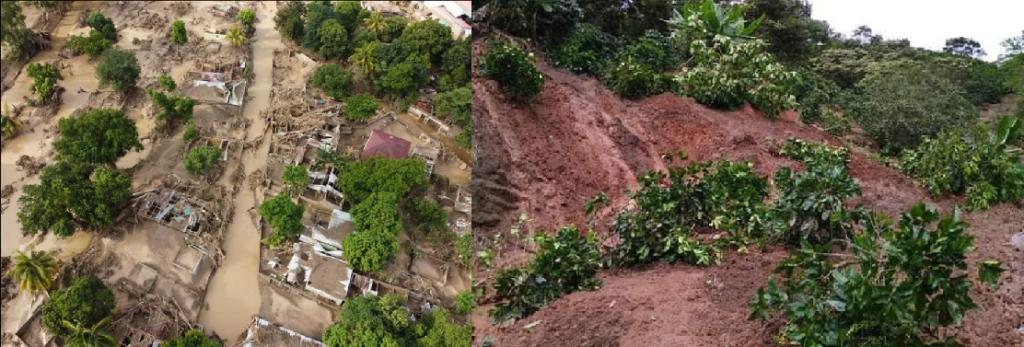 Inundaciones y cafetales arrazados por tormenta RTA en Honduras